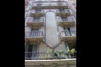 Rehabilitación de la fachada del edificio catalogado, calle Margarit, Barcelona